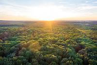 France, Allier, Bourbonnais, Troncais forest, Saint Bonnet Troncais (aerial view) // France, Allier (03), Bourbonnais, forêt de Tronçais, Saint-Bonnet-Tronçais (vue aérienne)