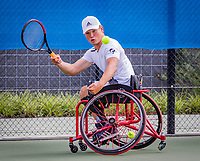 Amstelveen, Netherlands, 19 Augustus, 2020, National Tennis Center, NTC, NKR, National  Wheelchair Tennis Championships, Men's single: Gino Hamel (NED)<br /> Photo: Henk Koster/tennisimages.com