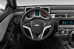 Steering wheel view of a 2014 Chevrolet Camaro Coupe LS
