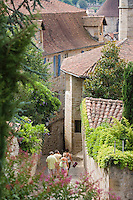 Europe/France/Midi-Pyrénées/46/Lot/Figeac: la rue Delzhens [vue depuis la terrasse de l'église Notre-Dame-du-Puy]
