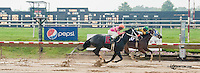 Lucky Lewis winning at Delaware Park on 6/27/13