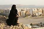 """Ville de Shibam, ou la """"Manhattan du Désert,  classée au patrimoine mondial de l'humanité pour ses """"immeubles pluricentenaires en pisé. Yemen"""