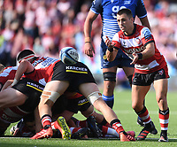 9th October 2021; Kingsholm Stadium, Gloucester, England; Gallagher Premiership Rugby, Gloucester versus Sale Sharks;  Ben Meehan of Gloucester passes the ball