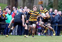 Saturday 18th February 2017 | CCB vs RBAI<br /> <br /> Pierce McLernon during the Ulster Schools' Cup Quarter Final clash between Campbell College Belfast and RBAI at Foxes Field, Campbell College, Belmont, Belfast, Northern Ireland.<br /> <br /> Photograph by John Dickson | www.dicksondigital.com