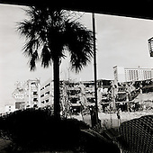 Biloxi,  Mississippi.USA.July 30,  2006..A few of the destroyed casinos on the beach in the center of the city one years after hurricane Katrina struck..