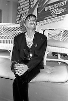Diane Tell au Music Fest Miller en 1986.<br /> <br /> PHOTO : Pierre Roussel -  Agence Quebec Presse