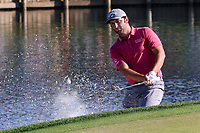 14th March 2021; Ponte Vedra Beach, Florida, USA;  Jon Rahm of Spain plays a shot on the 17th hole during the final round of THE PLAYERS Championship on March 14, 2021 at TPC Sawgrass Stadium Course in Ponte Vedra Beach, Fl.