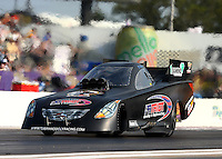 Apr 25, 2014; Baytown, TX, USA; NHRA funny car driver Terry Haddock during qualifying for the Spring Nationals at Royal Purple Raceway. Mandatory Credit: Mark J. Rebilas-