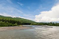 Braided river,  Talkeetna, Alaska, USA
