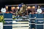 Olivier Robert of France riding Vivaldi Des Meneaux competes in the Hong Kong Jockey Club Trophy during the Longines Masters of Hong Kong at the Asia World Expo on 09 February 2018, in Hong Kong, Hong Kong. Photo by Ian Walton / Power Sport Images