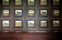 CHINA. Wallpaper inside the clubhouse of the Huatang International Golf Club in Beijing. 2009