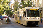 Portland Max Lightrail in Downtown, Oregon