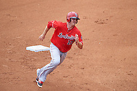 Louisville Bats left fielder Steve Selsky (13) running the bases during a game against the Buffalo Bisons on June 23, 2016 at Coca-Cola Field in Buffalo, New York.  Buffalo defeated Louisville 9-6.  (Mike Janes/Four Seam Images)