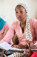 Senegal, Touba.  Young Woman at the Al-Azhar Institute of Islamic Studies.