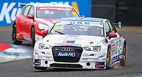 29th August 2020; Knockhill Racing Circuit, Fife, Scotland; Kwik Fit British Touring Car Championship, Knockhill, Qualifying Day; Sparks fly as the Audi driven by James Gornall hits the track