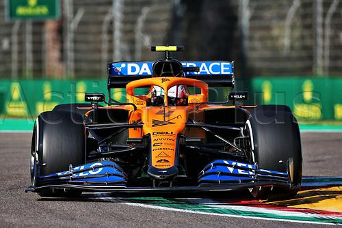 31st October 2020, Imola, Italy; FIA Formula 1 Grand Prix Emilia Romagna, Qualifying;  4 Lando Norris GBR, McLaren F1 Team