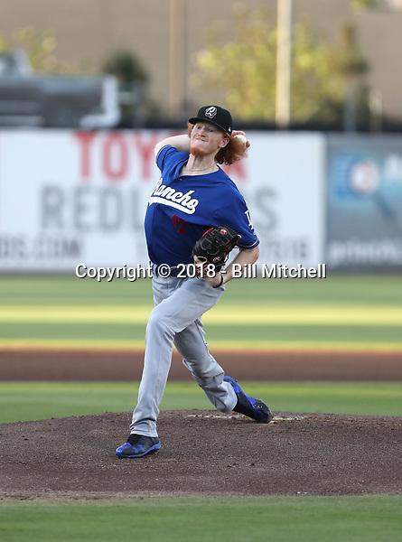 Dustin May - 2018 Rancho Cucamonga Quakes (Bill Mitchell)