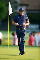 3rd July 2021, Detroit, MI, USA;  Phil Mickelson walks off the first green on July 3, 2021 during the Rocket Mortgage Classic at the Detroit Golf Club in Detroit, Michigan.