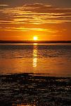 Sunrise over the lagoon on the remote island of Kiritimati in Kiribati