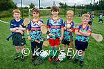 Enjoying the Kerry GAA Cúl camp in Ballyduff on Monday, l to r: Brandon O'Connor, Anluan O'Brien, Evan O'Sullivan, Callum McMahon and James Joy.