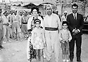 Iraq 1970 .Sinemkhan Bedir Khan with her family, her husband, Salah and their children in Nawperdan for the 8th congress of KDP meeting Hajar Sharafkandi .Irak 197O .Sinemkhan Bedir Khan avec sa famille a Nawpurdan pour le 8eme Congres du PDK, rencontre avec Hajar Sharafkandi
