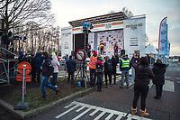 Podium:<br /> 1st place: Wout van Aert (BEL/Jumbo-Visma)<br /> 2nd place: Toon Aerts (BEL/Baloise Trek Lions)<br /> 3th place: Michael Vanthourenhout (BEL/Pauwels Sauzen-Bingoal)<br /> <br /> Elite Men's Race<br /> Belgian National CX Championships<br /> Meulebeke 2021<br /> <br /> ©kramon
