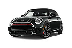 Stock pictures of low aggressive front three quarter view of 2019 MINI Cooper John-Cooper-Works-Hardtop Door Hatchback Low Aggressive