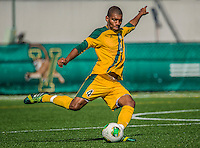 28 September 2013: University of Vermont Catamount Midfielder/Defenseman Beau Johnson, a Senior from Ajax, Ontario, in action against the Hartwick College Hawks at Virtue Field in Burlington, Vermont. The Catamounts shut out the visiting Hawks 1-0. Mandatory Credit: Ed Wolfstein Photo *** RAW (NEF) Image File Available ***