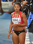Wales' Mica Moore after the 4x100m relay round 1 - heat 2<br /> <br /> Photographer Chris Vaughan/Sportingwales<br /> <br /> 20th Commonwealth Games - Day 9 - Friday 1st August 2014 - Athletics - Hampden Park - Glasgow - UK