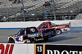 #4: Todd Gilliland, Kyle Busch Motorsports, Toyota Tundra Mobil 1 and #22: Austin Wayne Self, AM Racing, Chevrolet Silverado GO TEXAN / AM Technical Solutions