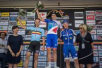 Arnaud Démare (FRA/FDJ) wins the 70th Halle Ingooigem 2017 (1.1) <br /> Edward Theuns (BEL/Trek-Segafredo) is 2nd & Iljo Keisse (BEL/QuickStep Floors) 3rd<br /> <br /> <br /> 1 Day Race: Halle > Ingooigem (201km)