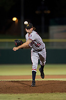 Salt River Rafters relief pitcher Taylor Guilbeau (69), of the Washington Nationals organization, delivers a pitch during an Arizona Fall League game against the Scottsdale Scorpions at Scottsdale Stadium on October 12, 2018 in Scottsdale, Arizona. Scottsdale defeated Salt River 6-2. (Zachary Lucy/Four Seam Images)