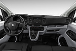 Stock photo of straight dashboard view of 2016 Peugeot Expert Premium 4 Door Cargo Van Dashboard