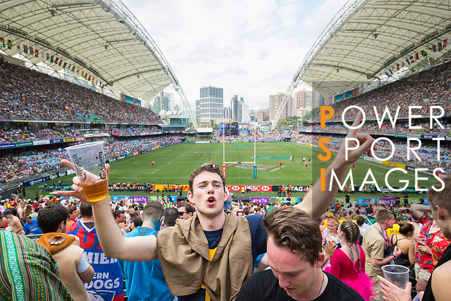 The Madness performs in their concert during the HSBC Hong Kong Rugby Sevens 2017 on 08 April 2017 in Hong Kong Stadium, Hong Kong, China. Photo by Chris Wong / Power Sport Images