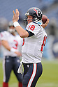 SAGE ROSENFELS, of the Houston Texans in action during the Texans game against the Tennessee Titans on December 2, 2007 in Nashville, Tennessee...TITANS  win 28-20..SportPics