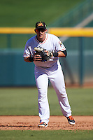 Mesa Solar Sox Austin Nola (8), of the Miami Marlins organization, during a game against the Scottsdale Scorpions on October 21, 2016 at Sloan Park in Mesa, Arizona.  Mesa defeated Scottsdale 4-3.  (Mike Janes/Four Seam Images)