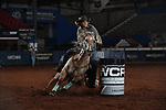 Michelle Darling during the second round of barrel qualifiers at the WCRA Stampede at the E. Photo by Andy Watson