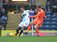 Blackburn Rovers Elliott Bennett in action with Ipswich Town's Freddie Sears<br /> <br /> Photographer Mick Walker/CameraSport<br /> <br /> The EFL Sky Bet Championship - Blackburn Rovers v Ipswich Town - Saturday 19 January 2019 - Ewood Park - Blackburn<br /> <br /> World Copyright © 2019 CameraSport. All rights reserved. 43 Linden Ave. Countesthorpe. Leicester. England. LE8 5PG - Tel: +44 (0) 116 277 4147 - admin@camerasport.com - www.camerasport.com
