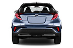 Straight rear view of a 2020 Toyota C-HR Club 5 Door SUV stock images