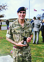 """Pictured: Undated family handout picture of Lee Foley.<br /> Re: A grieving couple held three funerals for their soldier son after his body parts were found in the back of a hospital fridge.<br /> Paul and Sian Foley had Lee, 26, cremated when he was tragically killed in a road accident while home on leave.<br /> His brain, spinal cord, and spleen were removed during a post mortem examination and returned to the grieving couple who held another service.  <br /> But 18 months later they were told more of Lee's body samples had been found in a fridge at the University Hospital of Wales in Cardiff.<br /> Furious Paul, 56, said: """"The undertaker rang me to ask what did we want doing with Lee's remains.<br /> """"I said we had already buried him but they told me they had found more remains in the back of a fridge.<br /> """"We recovered them and had him cremated."""