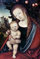 Virgin and Child under an Apple Tree  Lucas Cranach, the elder (1472-1553/German)