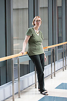 Jeantine E. Lunshof is a Philosopher and Bioethicist in George Church's Lab at Harvard Medical School's Department of Genetics, seen here near the Church Lab in the New Research Building in Boston, Massachusetts, USA, on Tues., Sept. 5, 2017.