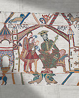 Bayeux Tapestry scene 1 : Edward The confessor send Harold to inform William he will succeed to English Throne.