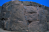 Sechin, dated 1600 B.C., is one of the oldest and well-preserved of the coastal ruins. First excavated in 1937 by JC Tello, the archeological site  has suffered damage from grave robbers and natural disasters like rain and earthquakes.  <br /> Three outside walls of the main temple are covered with bas-relief carvings of warriors and of captives being eviscerated.  The gruesomely realistic stone carvings are up to four meters high.  Little is known about the warlike people who are responsible which is one of the site's main points of interest.  The site continues to be excavated.