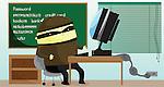 Illustration of computer hacker