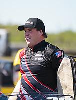 Apr 14, 2019; Baytown, TX, USA; NHRA mountain motor pro stock driver J.R. Carr during the Springnationals at Houston Raceway Park. Mandatory Credit: Mark J. Rebilas-USA TODAY Sports