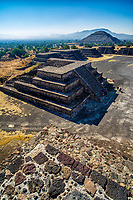 Mexico, M?xico, Teotihuac?n, View from the Pyramid of the Moon towards the Pyramid of the Sun