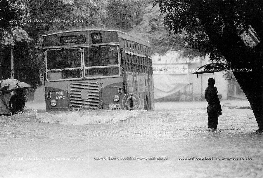 INDIA Mumbai Bombay , monsoon rains flooding the streets at suburb Borivli - copyright Joerg Boethling, also as signed black white Baryt fine print available!