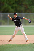 Jake Wilhoit (20) during the WWBA World Championship at the Roger Dean Complex on October 10, 2019 in Jupiter, Florida.  Jake Wilhoit attends Knoxville West High School in Knoxville, TN and is committed to Davidson.  (Mike Janes/Four Seam Images)
