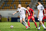 Odai Alsaify of Jordan (L) in action during the International Friendly match between Hong Kong and Jordan at Mongkok Stadium on June 7, 2017 in Hong Kong, China. Photo by Marcio Rodrigo Machado / Power Sport Images